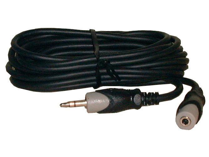 12' 3.5mm Stereo Mini Plug to Mini Jack, Black
