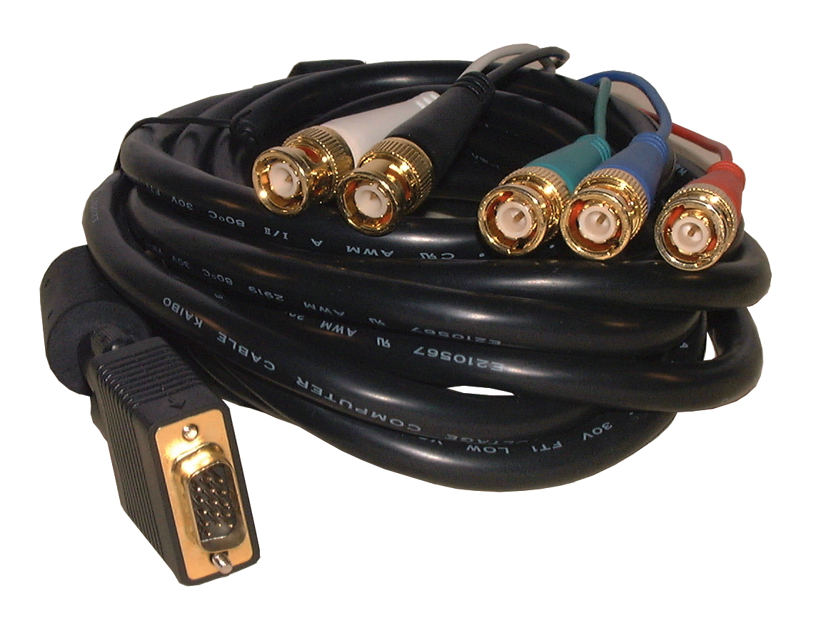 RGB-HDTV CABLE-HD15/M-5 BNC/M-12'