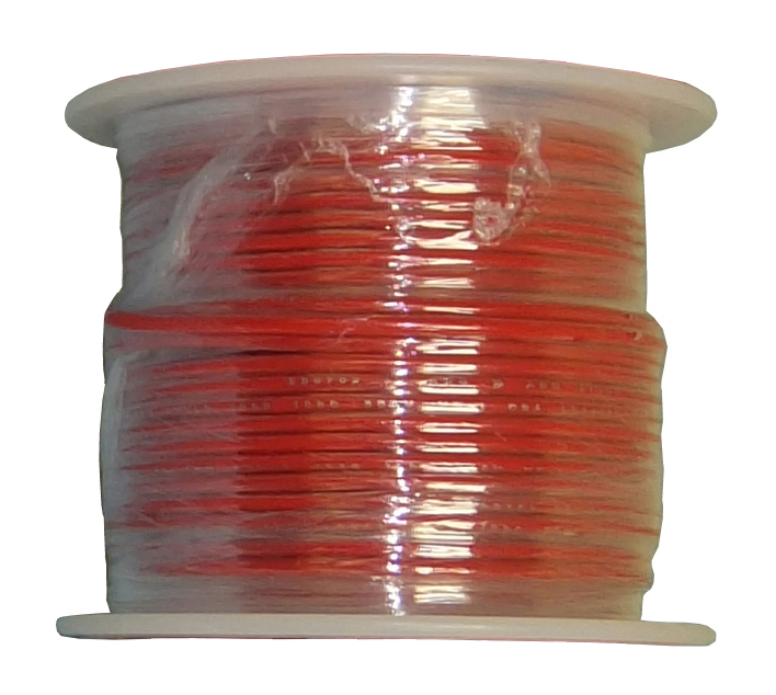 SOLID COPPER-22 AWG-25'-RED